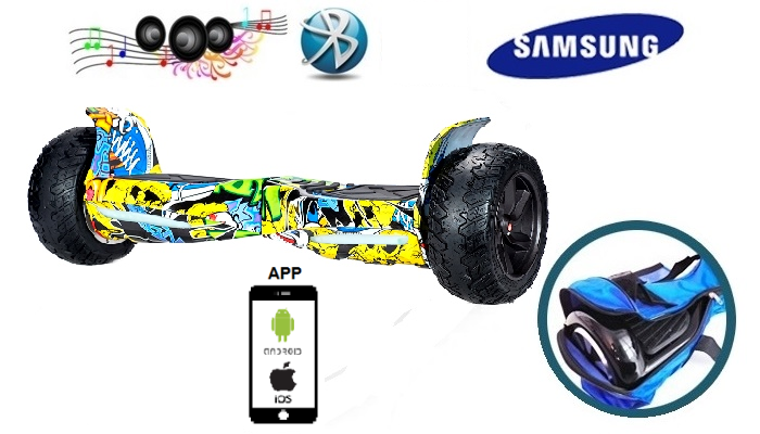 Off Board Smart KIWANO KO X 8.5 желто синее граффити